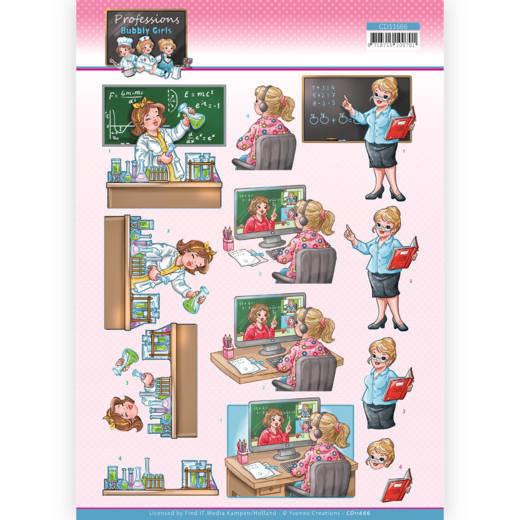 3D Cutting Sheet - Yvonne Creations - Bubbly Girls Professions - Teacher
