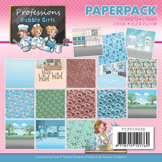 Paperpack - Yvonne Creations - Bubbly Girls - Professions