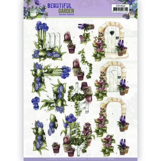 3D Cutting Sheet - Precious Marieke - Beautiful Garden - Allium