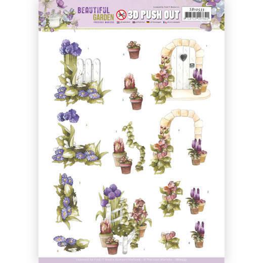 3D Push Out - Precious Marieke - Beautiful Garden - Allium