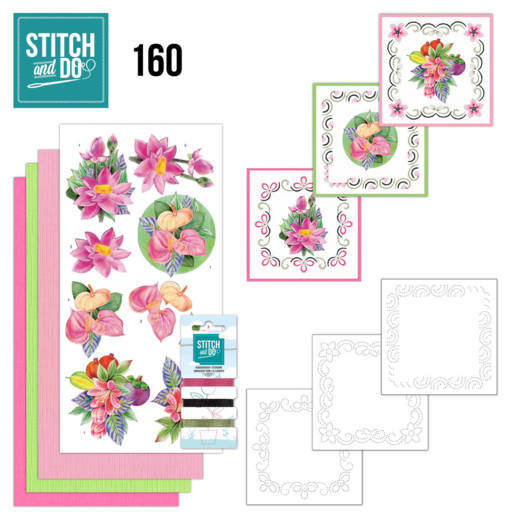 Stitch and Do 160 - Jeanine's Art - Exotic Flowers