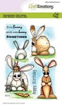 CraftEmotions clearstamps A6 - Bunny 1 Carla Creaties