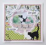 Marianne Design decoupage tiny's katten IT609