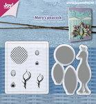 Joy! stempel met mal Mery's pauw 6004/0033