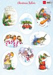 Marianne Design Decoupage Christmas - Roodborstjes VK9578 A4