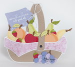 Marianne Design Stencil Fruitmand by Marleen PS8038