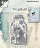 Joy! stencil sneeuwpop in pot 6002/1339_