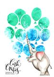 CraftEmotions Mask stencil ballonnen A6 Carla Creaties_