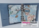 CraftEmotions WaterColorCard - bril. Ringband wit 10 vl 6 Ring A5_