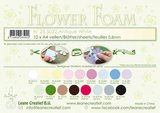 LeCrea - 10 Flower Foam A4 0,8mm antiek wit _