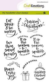 CraftEmotions clearstamps A6 - handletter - Christmas 2 (Eng) Carla Kamphuis