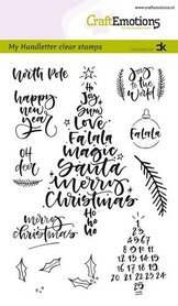 CraftEmotions clearstamps A6 - handletter - Christmas 1 (Eng) Carla Kamphuis