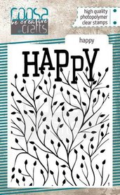 COOSA Crafts clearstamps A7 - Happy