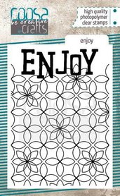 COOSA Crafts clearstamps A7 - Enjoy