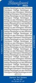 Starform Stickers Text NL Christmas: Pr. Kerstdagen/ Gelukkig nieuwjaar - Silver