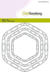 CraftEmotions Die - frames art hexagon