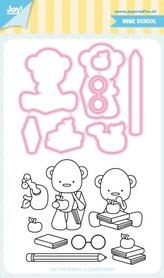 Joy! stempel met mal Jocelijne schoolbeer 6004/0041