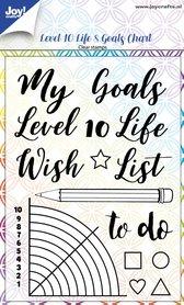 Joy! stempel Level 10 Life & goals chart 6410/0518