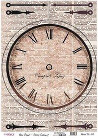 Cadence rijstpapier klok - krant