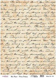 Cadence rijstpapier geschreven tekst