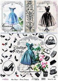 Cadence rijstpapier Couture - Vintage style