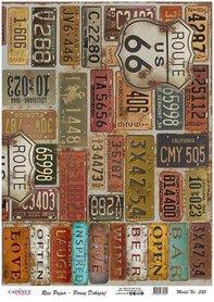 Cadence rijstpapier kentekenplaten USA