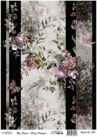 Cadence rijstpapier bloemen vlinder roze