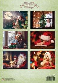 Nellie's Choice Decoupage knipvel Christmas time-3 A4