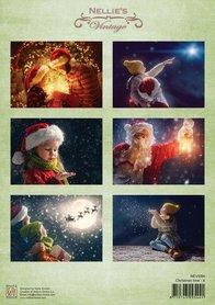 Nellie's Choice Decoupage knipvel Christmas time-4 A4