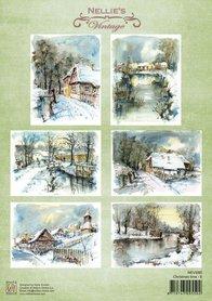 Nellie's Choice Decoupage knipvel Christmas time-5 A4