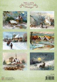Nellie's Choice Decoupage knipvel Christmas time-6 A4