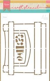 Marianne Design Craft Stencil Open haard by Marleen PS8048
