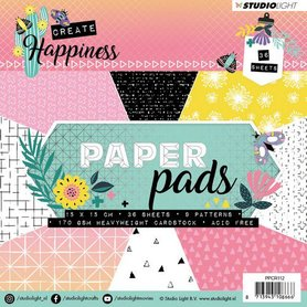 Studio Light Paper Pad 36 vel Create Happiness nr 112 15x15cm
