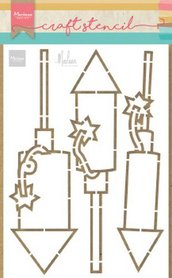 Marianne Design Craft Stencil vuurwerk by Marleen PS8050