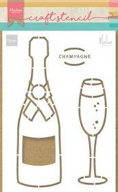 Marianne Design Craft Stencil Champagne by Marleen PS8051