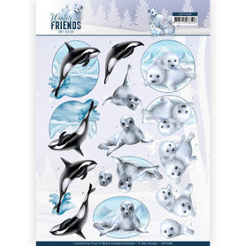 3D Knipvel - Amy Design - Winter Friends - Sparkling Sealife