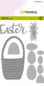 CraftEmotions Die - Easter - paasmandmet eieren  Carla Creaties