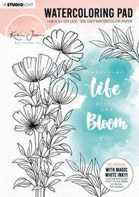 Studio Light Watercoloring Pad A5 Karin Joan Blooming Coll. nr.01