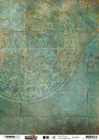 Studio Light Basis A4 Achtergrondpapier Just Lou Exploration Coll. nr.01