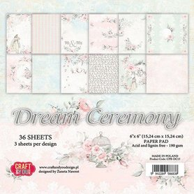 Craft&You Dream Ceremony Small Paper Pad 6x6 36 vel