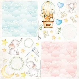 Craft&You Baby Adventure Sheet of elements to be cut out 12X12