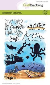CraftEmotions clearstamps A6 - Ocean 6 Carla Creaties