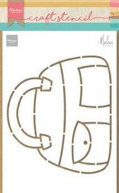 Marianne Design Craft Stencil Tas by Marleen PS8056