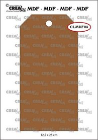 Crealies MDF label CLMDF03