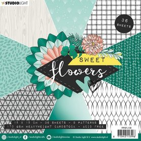 Studio Light paper pad Sweet Flowers nr.138 15x15 cm