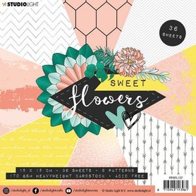 Studio Light paper pad Sweet Flowers nr.137 15x15 cm