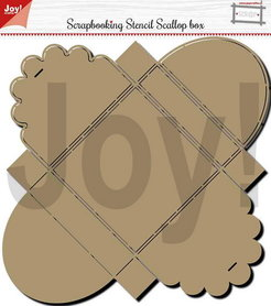 Joy! scrapbooking stencil scallop box 6005/0001