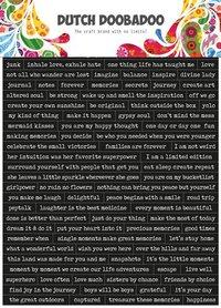 Dutch Doobadoo Dutch Sticker Art A5 Quotes (Eng)