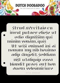 Dutch Doobadoo Dutch Mask Art Script 16,3x14,8cm