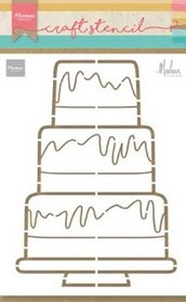 Marianne Design Craft Stencil Party cake by Marleen PS8057